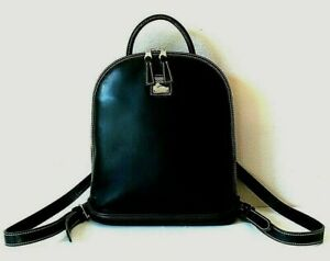 Dooney & Bourke Parasole Black Leather and Rubber Backpack
