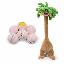 Set of 2 Pokemon Exeggcute and Alola Exeggutor Soft Plush Doll Stuffed Toy