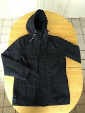 Men's blue hooded H&M parka style jacket. Size M. Cotton mix