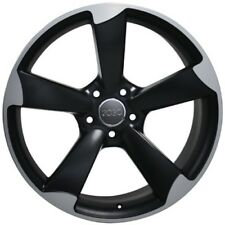"19"" Wheels For Audi A3 A4 A5 A6 A7 Q5 19X8.5 et 35 5X112 Black Rims Set (4)"