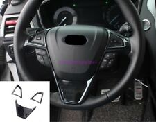 Fit for Ford Fusion Mondeo 2013-2019 Black titaniu Steering wheel cover trim