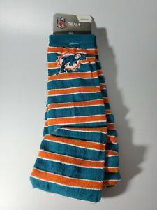 NFL Miami Dolphins Crew Dress Socks Medium 5-10 New