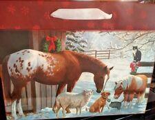 Holiday Gift Bag and Card Horse Pony Christmas Barnyard Farm Buy 4 Get 1 FREE