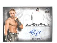 WWE Tyler Breeze 2016 Topps Undisputed Silver Autograph Relic Card SN 6 of 50