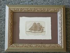 Gorch Foch Schooner Print Signed Olson Wooden Frame Nautical Boat Lt Edition