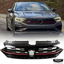 Fits For 19 20 Volkswagen Jetta Front Grill Honeycomb Red Trim Black Grille