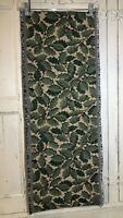 "Christmas Tapestry Table Runner Green Holly Leaves & Red Berries 72"" X 13"""