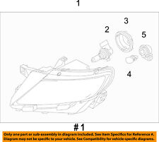 Lincoln FORD OEM 11-15 MKX-Headlight Assembly BA1Z13008C