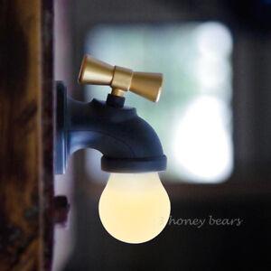 Retro Voice Control LED Light Faucet Tap Shape Night Light Night Lamp