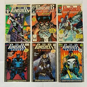 Marvel PUNISHER WAR JOURNAL #1 and #6-7 (Wolverine), plus ARMORY #2,3,6 - NM/VF+