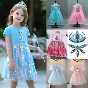 Girls Dress Frozen 2 Elsa and Anna Tutu Costume Sparling Gift ideas size 2-10Yrs