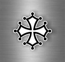Sticker adesivi adesivo moto auto jdm bomb tuning croce occitania bandiera r1