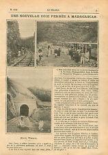Railway Construction Voie Ferrée Madagascar Ankarefo Amboavory 1910 ILLUSTRATION