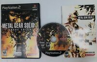 CIB Metal Gear Solid 3: Snake Eater Sony PlayStation 2 PS2 2004 Complete Tested