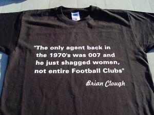 Brian Clough Agents Forest Derby Black or Red T-Shirt Inc 4xl 5xl Birthday Gift