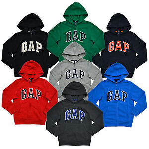 Gap Boys Kids Hoodie Jacket Sweatshirt Fleece Lined Full Zip Coat Arch Logo New