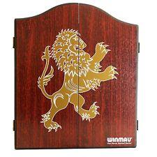 WINMAU DARTBOARD CABINET - WC4061 - Rosewood Lion - Solid Hardwood