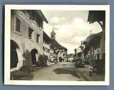 Suisse, Morat (Murten), Hôtel de Ville  Vintage silver print. Switzerland. Schwe