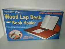 Wooden Lap Desk & Book Holder Bed Table Laptop Stand Tray Wood