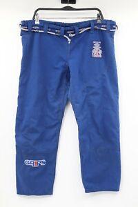 grips men's A1 jiu jitsu pants belted blue anti odor anti microbial