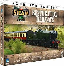 RESTORATION RAILWAYS - 4 DVD BOX SET - STEAM TRAINS - SEVERN VALLEY & MORE