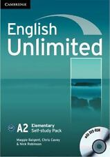 English Unlimited Elementary Self-Study Pack (workbook With Dvd-Rom): By Magg...