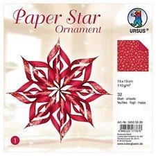 URSUS Designsterne Paper Stars Ornament rot