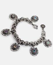 Charm Bracelet-silver-tone horseshoes Sweet Romance Horseshoe Crystal