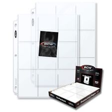 New 10 PK- 9 Pocket Pages BCW PRO Binder Cards / Coupon Sleeves Ultra Protection