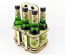 Wooden Beer / Cider Carrier / DIY 6 Pack Bottle Box / Caddy / Men Gift