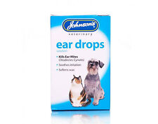 Johnsons Ear Drops Dog Puppy Cat Kitten 15ml