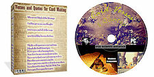 6000 VERSETTI e preventivi CD DISCO PER Card Making Arts and Crafts + DECOUPAGE + EXTRA