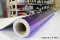 Purple Chrome Vinyl 5ft x 5ft Bubble-Free Wrap for Car Bike Boat Trailer