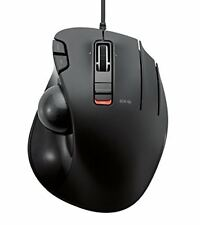 Elecom wired mouse track ball 6 button black M-XT3URBK New F/S Japan Track
