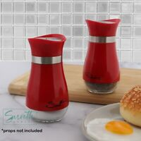 Red Salt And Pepper Shakers Red Glass & Metal Classic Spice Jars Salt Shaker