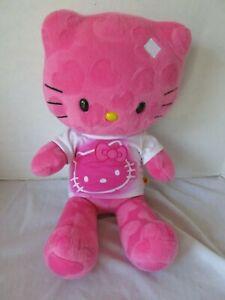 Build-A-Bear Workshop Hello Kitty Hot Pink Lg Plush Stuffed Doll & Shirt Sanrio