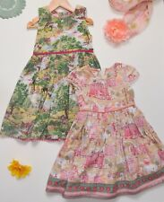 Monsoon Girls Dresses Set Pink and Green Age 5