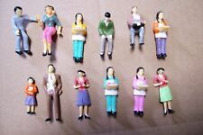 (#140) 1:30 Scale Lot Of 12 Different Plastic Painted People Figures.See More+