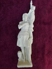 JEANNE D'ARC/ANCIENNE STATUE RELIGIEUSE/PLATRE PEINT /H.36,5cm