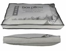 Pack of 4 Duck Feather & Down Box Pillows 15% DOWN Ideal For Side,Back Sleepers