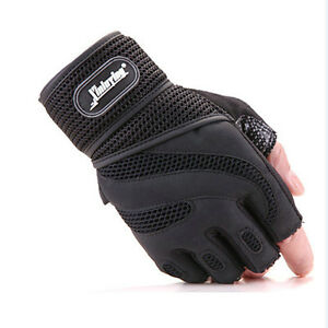 Men Weight lifting Body Building Gym Training Fitness Gloves Workout Wrist Wrap