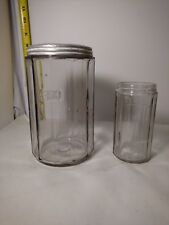 Vintage Glass Seller Hoosier  Coffee Canister & 1 extra small no lid Jar