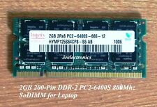 2GB (2GB x 1) 200-Pin DDR2 PC2-6400S 800MHz SDRAM for Dell, HP, Apple ... Laptop