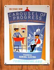 "TIN SIGN Walt Disney  ""Carousel Of Progress"" Vintage Ride Art Poster"