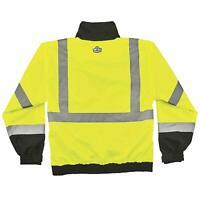 Ergodyne 8379 GloWear ANSI High Visibility Lime Thermal Bomber Jacket, Medium