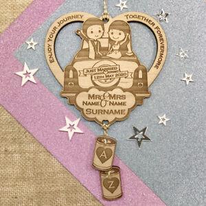 Personalised Wedding Keepsake Gift Love Heart Just Married Horseshoe Alternative