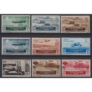 REGNO D'ITALIA 1934 P/A + ESPRESSI MEDAGLIE AL VALOR MILITARE 9 V. G.I MNH**