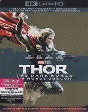 THOR 2: THE DARK WORLD 4K ULTRA HD & BLURAY & DIGITAL SET with Chris Hemsworth