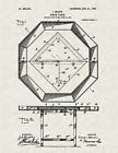 "1907 Poker Table by Isaac Mason Vintage U.S. Patent  8.5"" x 11"" Art Print"