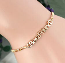 Fashion Women Best Friend Gold Plated Charm Chain Bangle Bracelet Jewelry Gift